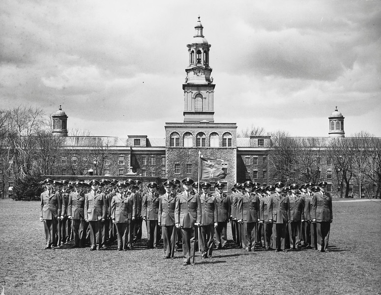 ROTC, Back of Hayes before Annexes, University Archives, call number: 80B