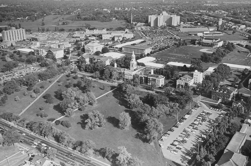 Aerial view South Campus, University Archives, 1972, call number: 10:21