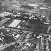 Aerial view South Campus, University Archives, 1921, airship, call number: 10:01