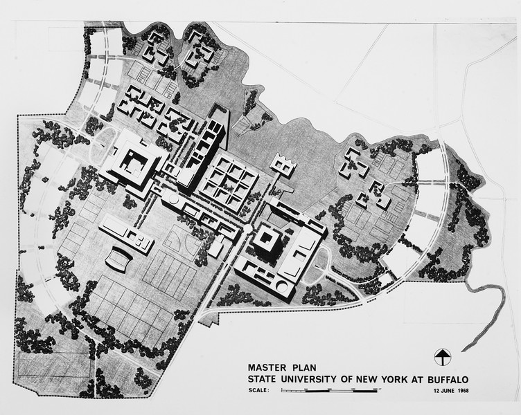 "Amherst campus ""master plan"" proposal, University Archives, 06_12_1968, 06/12/1968, call number 13:3(1)"