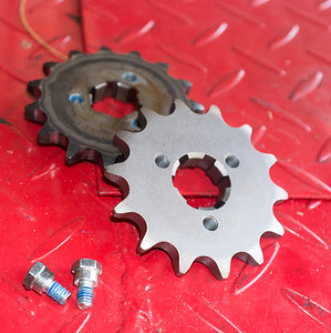 Old and new sprocket