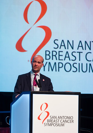 Andrew Tutt, MB ChB, MRCP, FRCR, PhD speaks during Mini Symposium 2