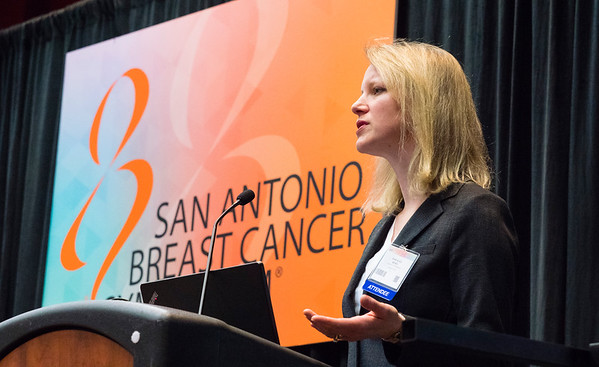 Anne H. Blaes, MD, MS speaks during the press conference