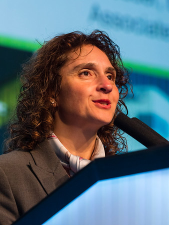 Virginia G. Kaklamani, MD, DSc speaks during the Year in Review