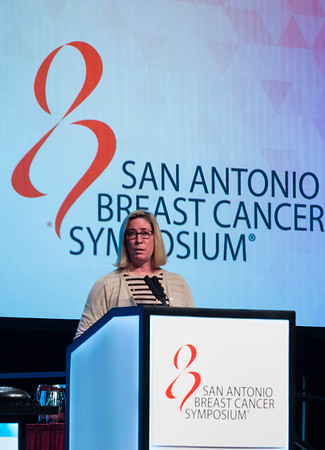 Leisha Ann Emens, MD, PhD speaks during MINI-SYMPOSIUM 1