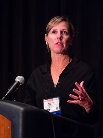 San Antonio, TX - SABCS 2016 San Antonio Breast Cancer Symposium - Melinda L. Irwin, PhD, MPH speaks during the EDUCATIONAL SESSION: Follow-up Care and Lifestyle Recommendations to Improve Outcomes here today, Tuesday December 6, 2016. during the San Antonio Breast Cancer Symposium being held at the Henry B. Gonzalez Convention Center in San Antonio, TX. Over 7,500 physicians, researchers, patient advocates and healthcare professionals from over 90 countries attended the meeting which features the latest research on breast cancer treatment and prevention. Photo by © MedMeetingImages/Todd Buchanan 2016  Technical Questions: todd@medmeetingimages.com