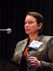 San Antonio, TX - SABCS 2016 San Antonio Breast Cancer Symposium - Stacy L. Moulder, MD, MSci speaks during the EDUCATIONAL SESSION: Triple Negative Breast Cancer here today, Tuesday December 6, 2016. during the San Antonio Breast Cancer Symposium being held at the Henry B. Gonzalez Convention Center in San Antonio, TX. Over 7,500 physicians, researchers, patient advocates and healthcare professionals from over 90 countries attended the meeting which features the latest research on breast cancer treatment and prevention. Photo by © MedMeetingImages/Todd Buchanan 2016  Technical Questions: todd@medmeetingimages.com