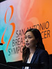 San Antonio, TX - SABCS 2016 San Antonio Breast Cancer Symposium - Heather S. Han, MD speaks during the opening press conference here today, Wednesday December 7, 2016. during the San Antonio Breast Cancer Symposium being held at the Henry B. Gonzalez Convention Center in San Antonio, TX. Over 7,500 physicians, researchers, patient advocates and healthcare professionals from over 90 countries attended the meeting which features the latest research on breast cancer treatment and prevention. Photo by © MedMeetingImages/Todd Buchanan 2016  Technical Questions: todd@medmeetingimages.com
