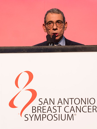 San Antonio, TX - SABCS 2016 San Antonio Breast Cancer Symposium - Eric P. Winer, MD gives the WILLIAM L. MCGUIRE MEMORIAL LECTURE  here today, Wednesday December 7, 2016. during the San Antonio Breast Cancer Symposium being held at the Henry B. Gonzalez Convention Center in San Antonio, TX. Over 7,500 physicians, researchers, patient advocates and healthcare professionals from over 90 countries attended the meeting which features the latest research on breast cancer treatment and prevention. Photo by © MedMeetingImages/Todd Buchanan 2016  Technical Questions: todd@medmeetingimages.com