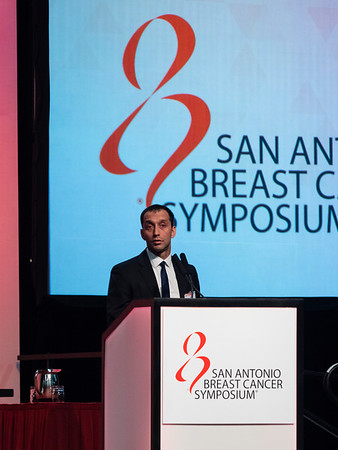 San Antonio, TX - SABCS 2016 San Antonio Breast Cancer Symposium - Felip Geyer speaks during General Session II here today, Wednesday December 7, 2016. during the San Antonio Breast Cancer Symposium being held at the Henry B. Gonzalez Convention Center in San Antonio, TX. Over 7,500 physicians, researchers, patient advocates and healthcare professionals from over 90 countries attended the meeting which features the latest research on breast cancer treatment and prevention. Photo by © MedMeetingImages/Todd Buchanan 2016  Technical Questions: todd@medmeetingimages.com