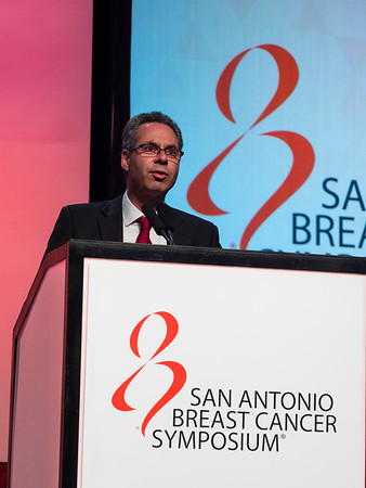 San Antonio, TX - SABCS 2016 San Antonio Breast Cancer Symposium - GJ Lindeman speaks during General Session II here today, Wednesday December 7, 2016. during the San Antonio Breast Cancer Symposium being held at the Henry B. Gonzalez Convention Center in San Antonio, TX. Over 7,500 physicians, researchers, patient advocates and healthcare professionals from over 90 countries attended the meeting which features the latest research on breast cancer treatment and prevention. Photo by © MedMeetingImages/Todd Buchanan 2016  Technical Questions: todd@medmeetingimages.com