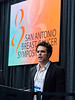 San Antonio, TX - SABCS 2016 San Antonio Breast Cancer Symposium - Ofir Cohen, PhD speaks during the opening press conference here today, Wednesday December 7, 2016. during the San Antonio Breast Cancer Symposium being held at the Henry B. Gonzalez Convention Center in San Antonio, TX. Over 7,500 physicians, researchers, patient advocates and healthcare professionals from over 90 countries attended the meeting which features the latest research on breast cancer treatment and prevention. Photo by © MedMeetingImages/Todd Buchanan 2016  Technical Questions: todd@medmeetingimages.com