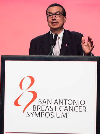 San Antonio, TX - SABCS 2016 San Antonio Breast Cancer Symposium - Charles M. Perou, PhD gives the SUSAN G. KOMEN® BRINKER AWARD FOR SCIENTIFIC DISTINCTION IN BASIC SCIENCE here today, Wednesday December 7, 2016. during the San Antonio Breast Cancer Symposium being held at the Henry B. Gonzalez Convention Center in San Antonio, TX. Over 7,500 physicians, researchers, patient advocates and healthcare professionals from over 90 countries attended the meeting which features the latest research on breast cancer treatment and prevention. Photo by © MedMeetingImages/Todd Buchanan 2016  Technical Questions: todd@medmeetingimages.com