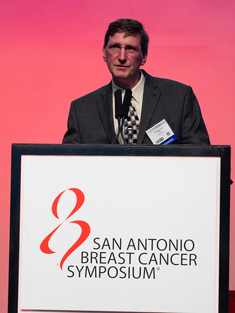 San Antonio, TX - SABCS 2016 San Antonio Breast Cancer Symposium - FJ Couch speaks during General Session II here today, Wednesday December 7, 2016. during the San Antonio Breast Cancer Symposium being held at the Henry B. Gonzalez Convention Center in San Antonio, TX. Over 7,500 physicians, researchers, patient advocates and healthcare professionals from over 90 countries attended the meeting which features the latest research on breast cancer treatment and prevention. Photo by © MedMeetingImages/Todd Buchanan 2016  Technical Questions: todd@medmeetingimages.com