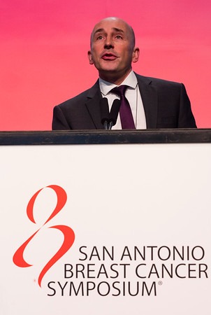 San Antonio, TX - SABCS 2016 San Antonio Breast Cancer Symposium - T Karn speaks during the GENERAL SESSION 1 here today, Wednesday December 7, 2016. during the San Antonio Breast Cancer Symposium being held at the Henry B. Gonzalez Convention Center in San Antonio, TX. Over 7,500 physicians, researchers, patient advocates and healthcare professionals from over 90 countries attended the meeting which features the latest research on breast cancer treatment and prevention. Photo by © MedMeetingImages/Todd Buchanan 2016  Technical Questions: todd@medmeetingimages.com