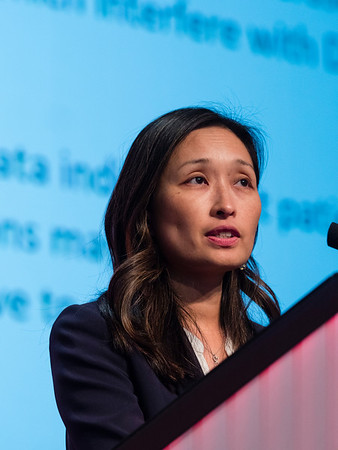 San Antonio, TX - SABCS 2016 San Antonio Breast Cancer Symposium - HS Han speaks during General Session II here today, Wednesday December 7, 2016. during the San Antonio Breast Cancer Symposium being held at the Henry B. Gonzalez Convention Center in San Antonio, TX. Over 7,500 physicians, researchers, patient advocates and healthcare professionals from over 90 countries attended the meeting which features the latest research on breast cancer treatment and prevention. Photo by © MedMeetingImages/Todd Buchanan 2016  Technical Questions: todd@medmeetingimages.com