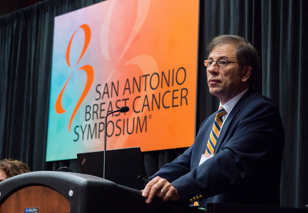 San Antonio, TX - SABCS 2016 San Antonio Breast Cancer Symposium - Terry Mamounas, MD, MPH speaks during the opening press conference here today, Wednesday December 7, 2016. during the San Antonio Breast Cancer Symposium being held at the Henry B. Gonzalez Convention Center in San Antonio, TX. Over 7,500 physicians, researchers, patient advocates and healthcare professionals from over 90 countries attended the meeting which features the latest research on breast cancer treatment and prevention. Photo by © MedMeetingImages/Todd Buchanan 2016  Technical Questions: todd@medmeetingimages.com