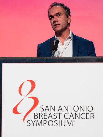 San Antonio, TX - SABCS 2016 San Antonio Breast Cancer Symposium - J-M Classe speaks during General Session II here today, Wednesday December 7, 2016. during the San Antonio Breast Cancer Symposium being held at the Henry B. Gonzalez Convention Center in San Antonio, TX. Over 7,500 physicians, researchers, patient advocates and healthcare professionals from over 90 countries attended the meeting which features the latest research on breast cancer treatment and prevention. Photo by © MedMeetingImages/Todd Buchanan 2016  Technical Questions: todd@medmeetingimages.com
