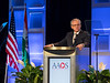 AAOS President Williams speaks during Business Meeting
