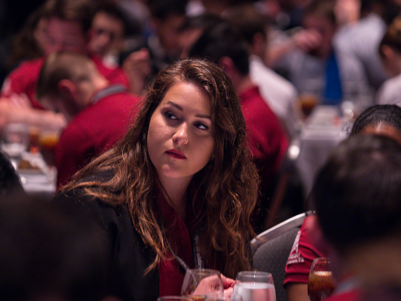 Darcy Spady, 2018 SPE President, speaks Student Awards Luncheon