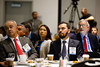 Attendees listen during Topical Breakfast: New Business Opportunities in Brazil
