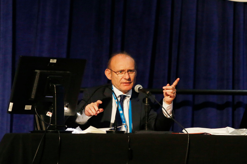 Session Chairperson Philippe Charlez, Senior Technical Advisor, Total SA during Topical Luncheon: Moho Nord, An Innovation Showcase