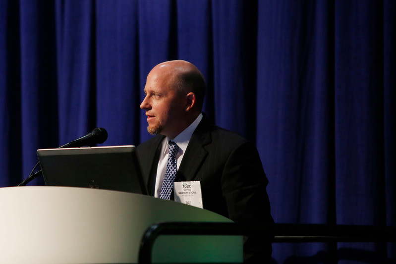Speaker Todd Carrico during Morning Technical Session: Cost-Effective Solutions for a New Oil and Gas Scenario