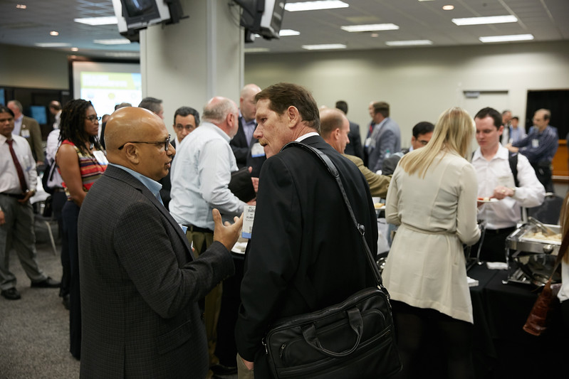 Attendees during Rice Alliance Startup Roundup