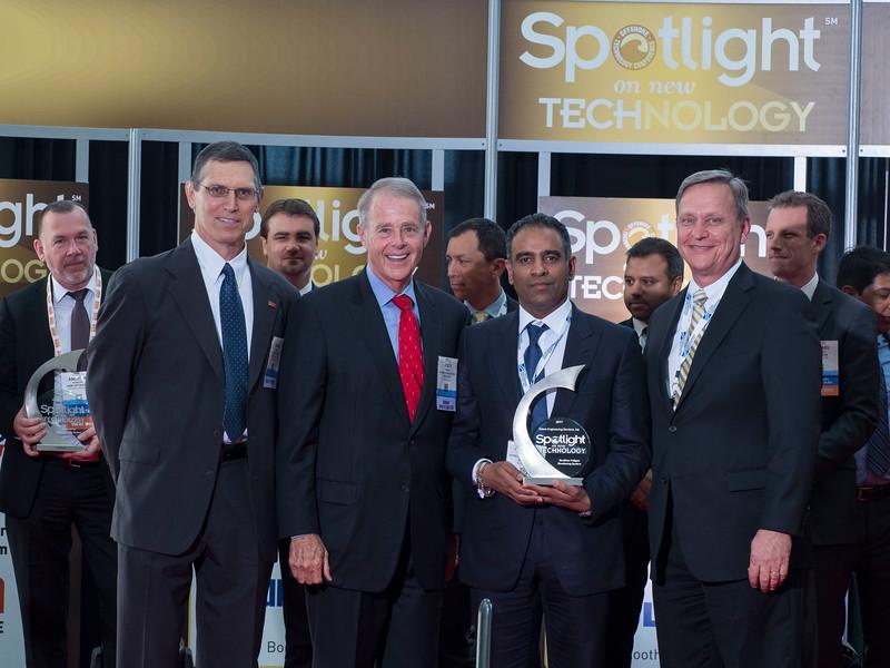 Award winners during Spotlight on New Technology Presentation