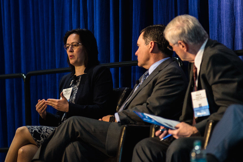 Panelist Angela Durkin speaks during Morning Technical Session: Center for Offshore Safety and Society of Petroleum Engineers: Managing the Human Side of Safety