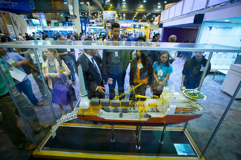 Students perform experiments and visit the Exhibit hall booths during Energy Education Institute: High School Student STEM Event