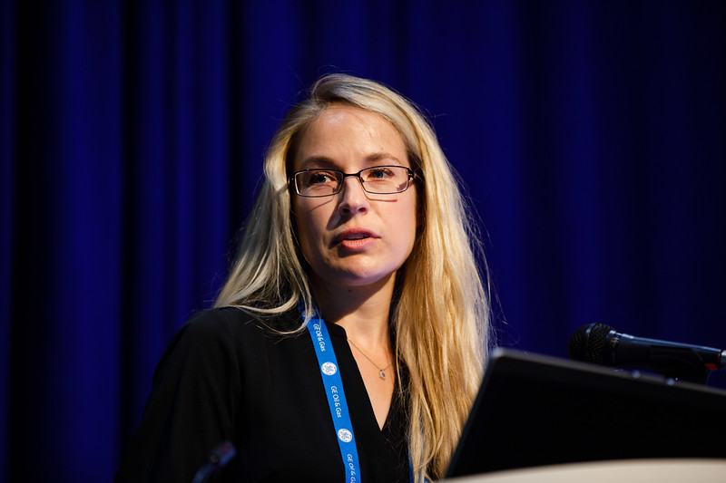 Brittany A. Bruce speaks during Morning Technical Session:Integrated Geophysical: Advances in Methodologies and Technologies