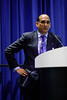 Session Moderator Sandeep Khurana, Field Development and Operations, Granherne Inc., speaks during Afternoon Technical Sessions: Bringing Upstream Projects to Final Investment Decision (FID)