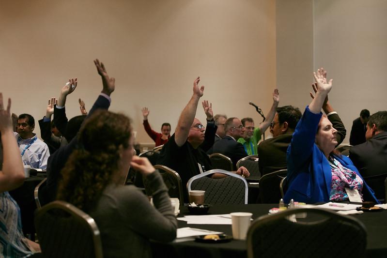 Attendees during Networking Event: Efficient Organizations: Leaning Up in the Low Price Environment