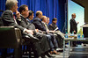 Session Moderator Gregory Carter and speakers David Payne, David Chenier, Mazuin Ismail, Robin Macmillan, Jose Gutierrez and Lance Marklinger during Morning Technical Session: Active Arena: Jointly Leading Towards the Industry Upturn