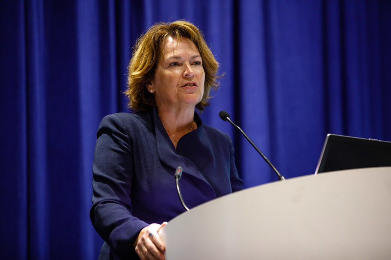 Susan Cunningham, Executive Vice President, Exploration, New Ventures, Frontier, EHSR and Business Innovation, Noble Energy Inc., speaks during Afternoon Technical Sessions: Bringing Upstream Projects to Final Investment Decision (FID)