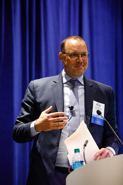 Brian Cothran, President, North America Region, GE Oil & Gas, speaks during Afternoon Technical Sessions: Bringing Upstream Projects to Final Investment Decision (FID)