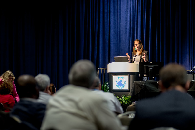 The Department of the Interior's Katherine Macgregor speaks during Topical Breakfast: Offshore Energy Development: What Comes Next