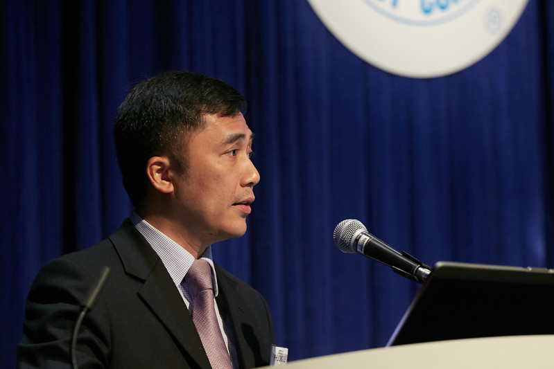 Tran Le Phuong speaks  during Topical Breakfast: PetroVietnam: Addressing Today's Challenges and Planning for the Future