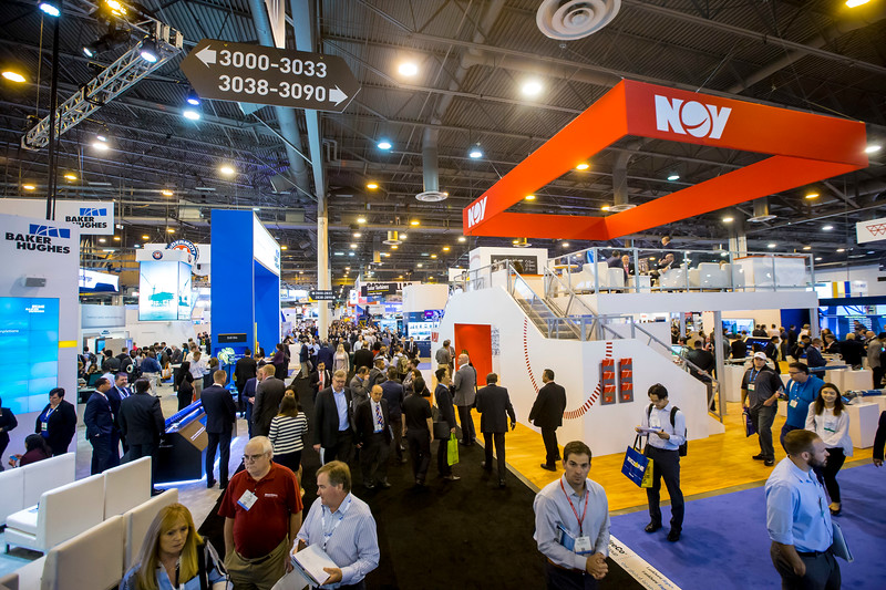 Wide angle and close up shots of exhibit floor during Exhibition