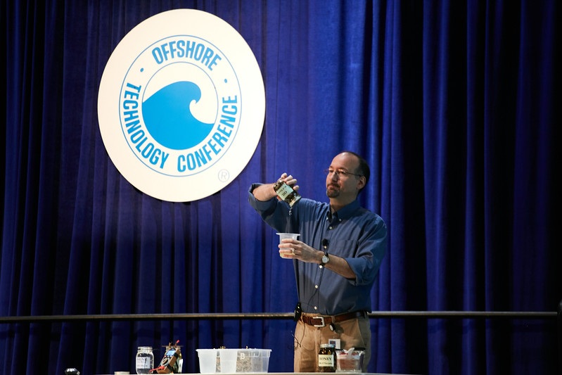 Houston, TX - OTC 2017 - Chris Del Campo during the Energy Education Institute: Teacher Workshop at the Offshore Technology Conference here today, Thursday May 4, 2017. The OTC hosts the meeting at the NRG Park which has over 90,000 attendees from around the world to see the latest technology in the energy industry. Photo by © OTC/Ben Depp 2017 Contact Info: todd@corporateeventimages.com Category: General Views Keywords: General Views