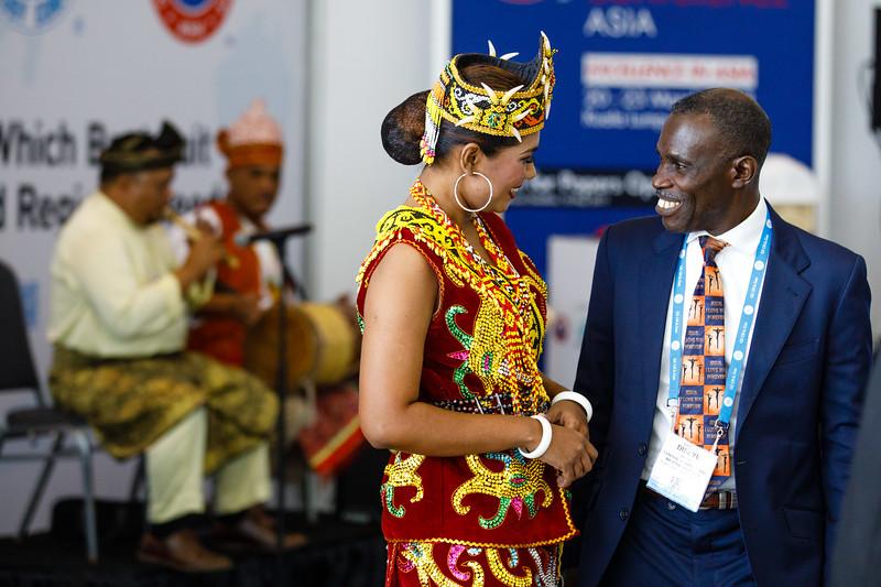 Cultural representatives during OTC Asia Preview