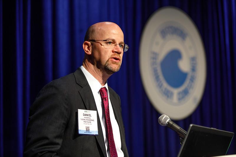 Dan Pickering speaks during Topical Luncheon: Financing Deepwater Development