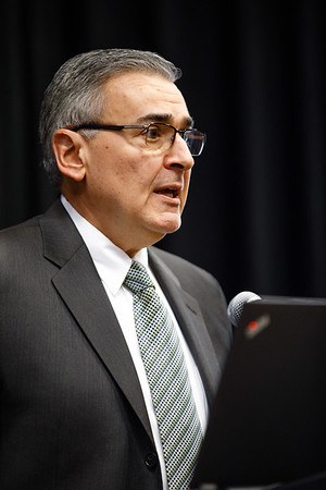 Joseph Sparano, MD, speaks during the Friday Press Conference