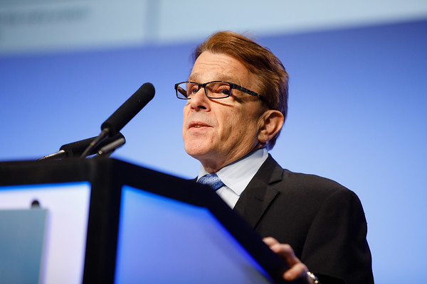 Frank Vicini, MD, speaks during the Plenary Session