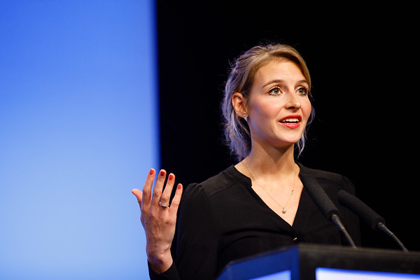 Anna Kuijer, MD, PhD, speaks during the Plenary Session