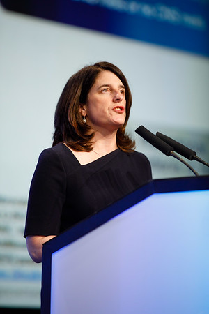 Jennifer Litton, MD, speaks during the General Session