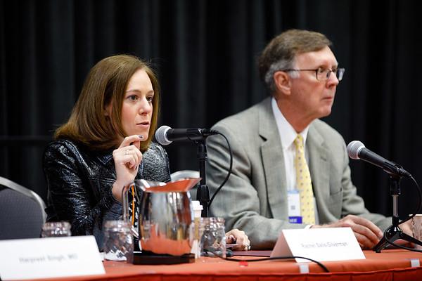 Rachel Salis-Sliverman speaks during the Friday Press Conference