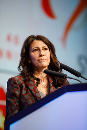 V Galimberti speaks during the Plenary Session