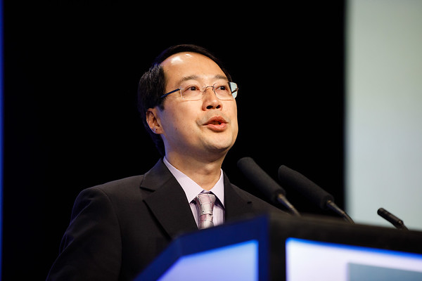 Joseph Lo speaks during the Plenary Session